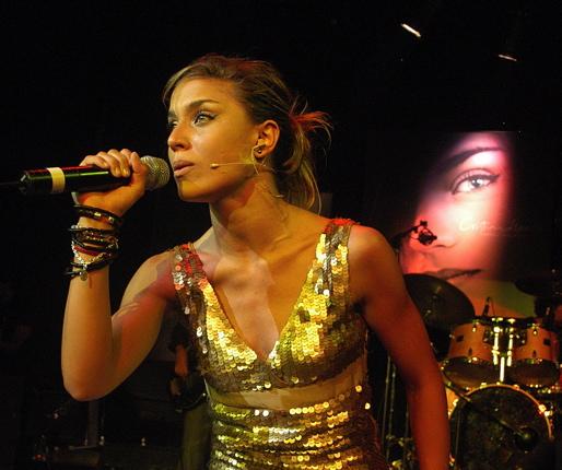 Cristina Llorente en concierto
