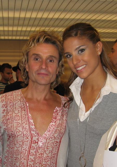 Cristina Llorente con Nacho Cano