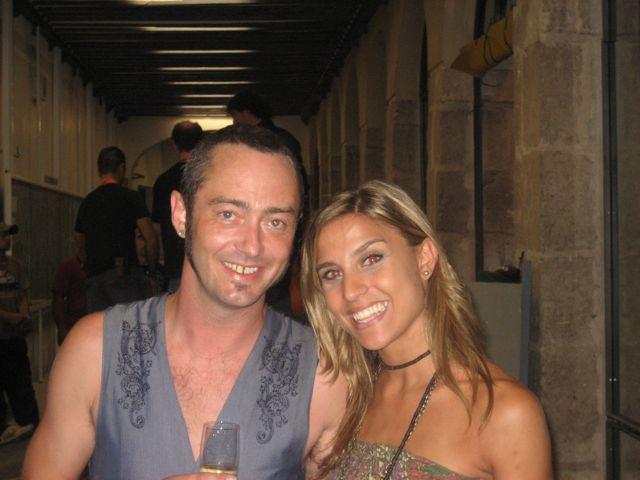 Con Marcus brown. Cristina Llorente.